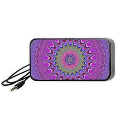 Art Mandala Design Ornament Flower Portable Speaker (black) by BangZart