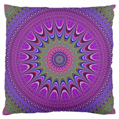 Art Mandala Design Ornament Flower Large Cushion Case (two Sides) by BangZart