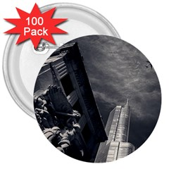 Chicago Skyline Tall Buildings 3  Buttons (100 Pack)  by BangZart