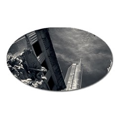 Chicago Skyline Tall Buildings Oval Magnet by BangZart
