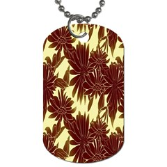 Floral Pattern Background Dog Tag (two Sides) by BangZart
