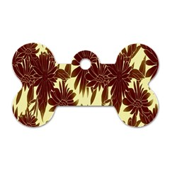 Floral Pattern Background Dog Tag Bone (two Sides) by BangZart