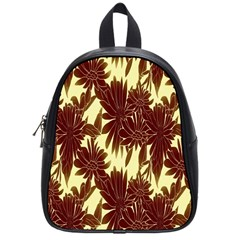 Floral Pattern Background School Bag (small) by BangZart