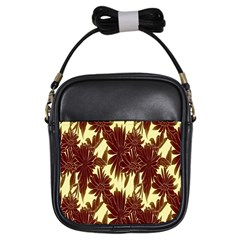 Floral Pattern Background Girls Sling Bags by BangZart