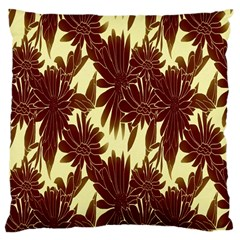 Floral Pattern Background Large Cushion Case (two Sides) by BangZart
