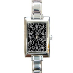 Floral Pattern Background Rectangle Italian Charm Watch by BangZart