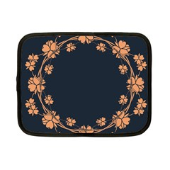 Floral Vintage Royal Frame Pattern Netbook Case (small)  by BangZart