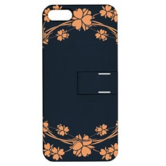 Floral Vintage Royal Frame Pattern Apple Iphone 5 Hardshell Case With Stand by BangZart