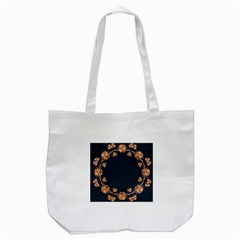 Floral Vintage Royal Frame Pattern Tote Bag (white) by BangZart