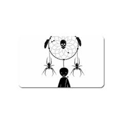 Voodoo Dream Catcher  Magnet (name Card) by Valentinaart