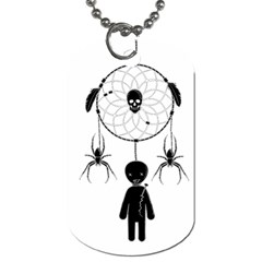 Voodoo Dream Catcher  Dog Tag (two Sides) by Valentinaart