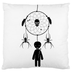 Voodoo Dream Catcher  Large Flano Cushion Case (one Side) by Valentinaart