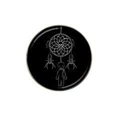 Voodoo Dream Catcher  Hat Clip Ball Marker by Valentinaart