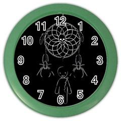 Voodoo Dream Catcher  Color Wall Clocks by Valentinaart