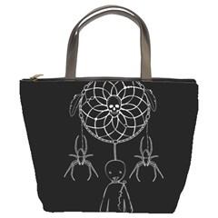 Voodoo Dream Catcher  Bucket Bags by Valentinaart