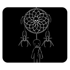 Voodoo Dream Catcher  Double Sided Flano Blanket (small)  by Valentinaart
