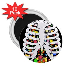 Trick Or Treat  2 25  Magnets (10 Pack)  by Valentinaart