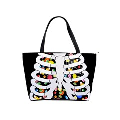 Trick Or Treat  Shoulder Handbags by Valentinaart