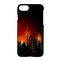 Gold Golden Skyline Skyscraper Apple Iphone 7 Hardshell Case by BangZart