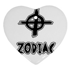 Zodiac Killer  Heart Ornament (two Sides) by Valentinaart