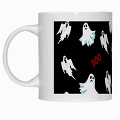 Ghost Pattern White Mugs by Valentinaart