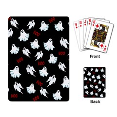 Ghost Pattern Playing Card by Valentinaart