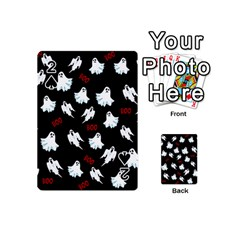 Ghost Pattern Playing Cards 54 (mini)  by Valentinaart
