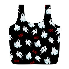 Ghost Pattern Full Print Recycle Bags (l)  by Valentinaart