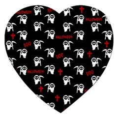 Death Pattern   Halloween Jigsaw Puzzle (heart) by Valentinaart