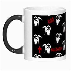 Death Pattern   Halloween Morph Mugs by Valentinaart