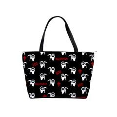 Death Pattern   Halloween Shoulder Handbags by Valentinaart