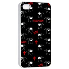 Death Pattern   Halloween Apple Iphone 4/4s Seamless Case (white) by Valentinaart