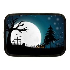 Halloween Landscape Netbook Case (medium)  by Valentinaart