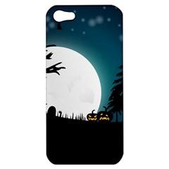 Halloween Landscape Apple Iphone 5 Hardshell Case by Valentinaart