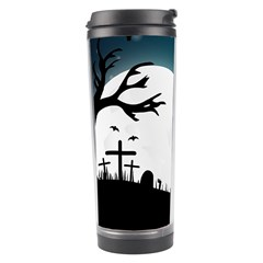 Halloween Landscape Travel Tumbler by Valentinaart