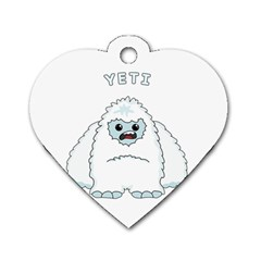 Yeti Dog Tag Heart (one Side) by Valentinaart