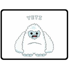 Yeti Double Sided Fleece Blanket (large)  by Valentinaart