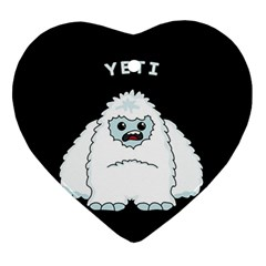 Yeti Ornament (heart) by Valentinaart