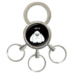 Yeti 3 Ring Key Chains by Valentinaart
