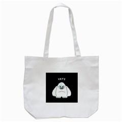 Yeti Tote Bag (white) by Valentinaart