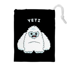 Yeti Drawstring Pouches (extra Large) by Valentinaart