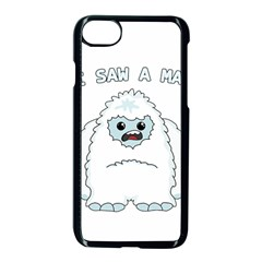 Yeti   I Saw A Man Apple Iphone 7 Seamless Case (black) by Valentinaart