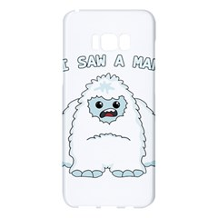 Yeti   I Saw A Man Samsung Galaxy S8 Plus Hardshell Case  by Valentinaart