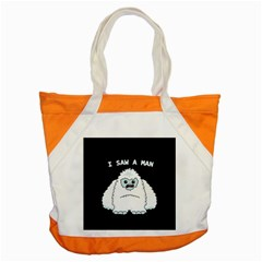 Yeti   I Saw A Man Accent Tote Bag by Valentinaart