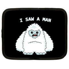 Yeti   I Saw A Man Netbook Case (large) by Valentinaart