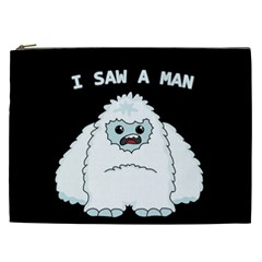 Yeti   I Saw A Man Cosmetic Bag (xxl)  by Valentinaart