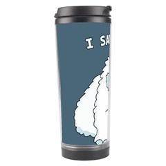 Yeti   I Saw A Man Travel Tumbler by Valentinaart