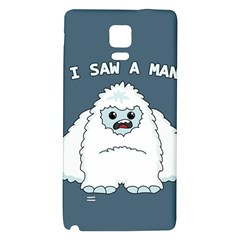 Yeti   I Saw A Man Galaxy Note 4 Back Case by Valentinaart