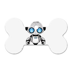 Cute Robot Dog Tag Bone (two Sides) by Valentinaart