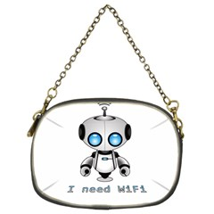 Cute Robot Chain Purses (two Sides)  by Valentinaart